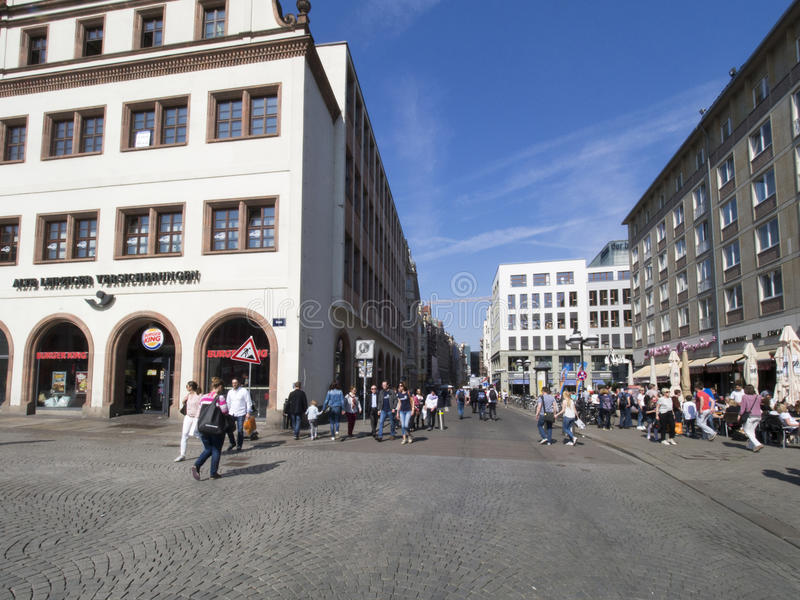 Reichstrasse street, Leipzig, Germany royalty free stock photography