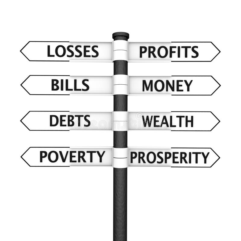 Reichtum gegen Armut vektor abbildung