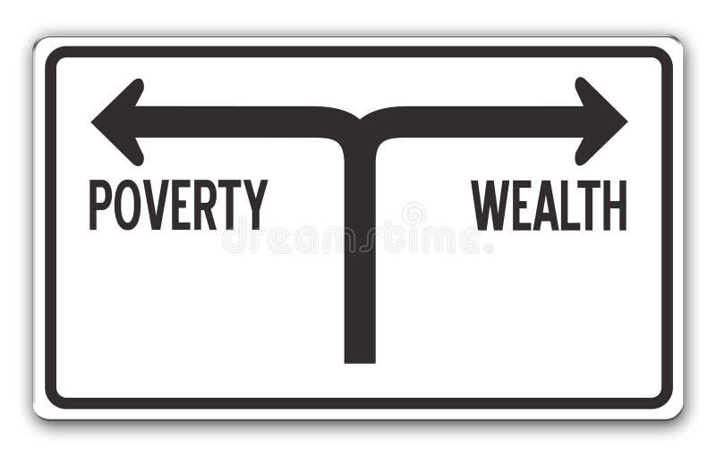 Reichtum u. Armut lizenzfreie abbildung
