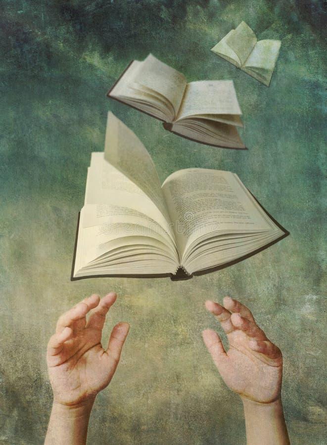 Reichweite für ein Buch stock abbildung