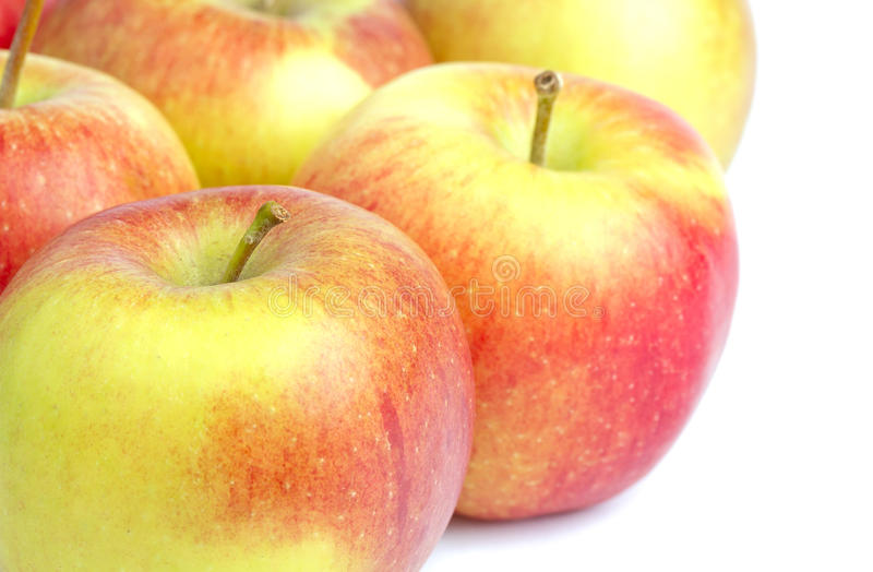 Reife braeburn Äpfel lizenzfreies stockbild