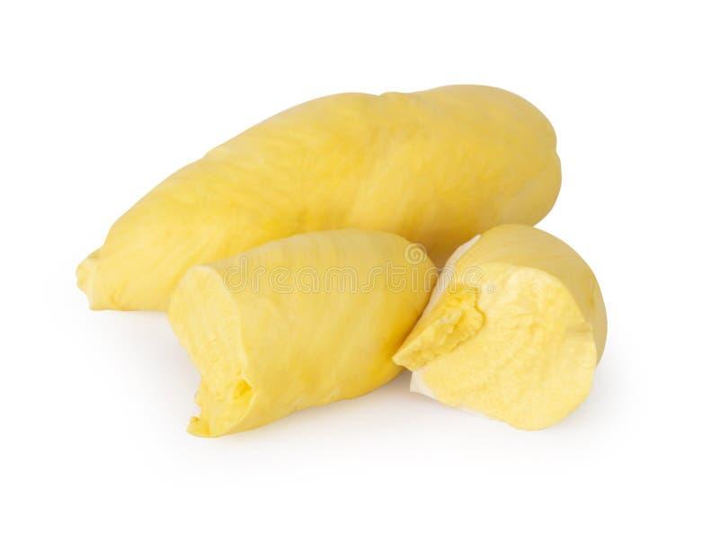 Reife Durianfrucht lokalisiert auf wei?em Hintergrund lizenzfreie stockfotografie