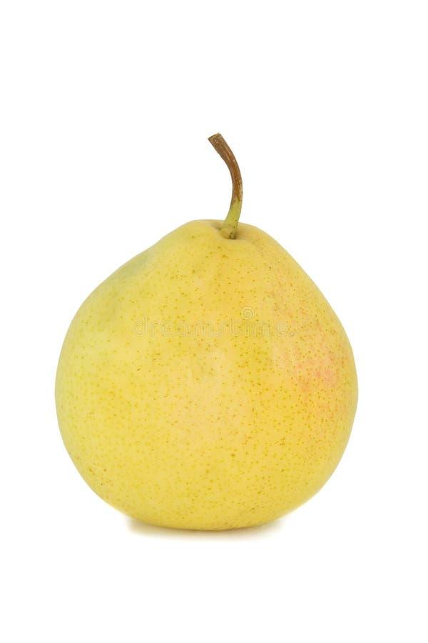 Reife gelbe Birne getrennt auf Weiß; lizenzfreies stockbild