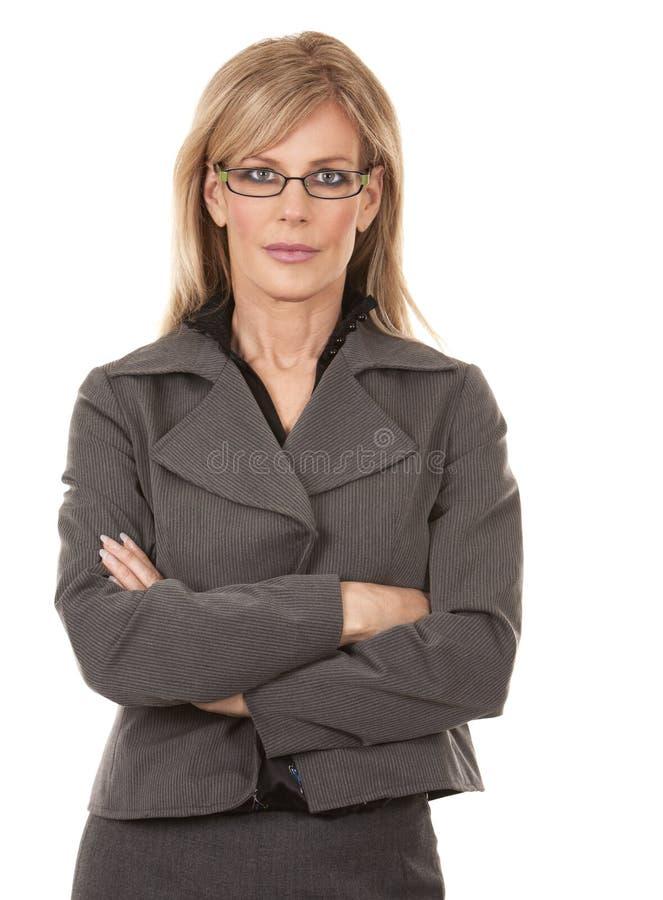 Reife Geschäftsfrau stockfotos