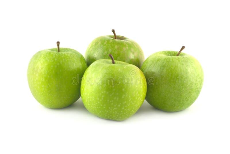 Reife grüne Apfelnahaufnahme stockfotografie
