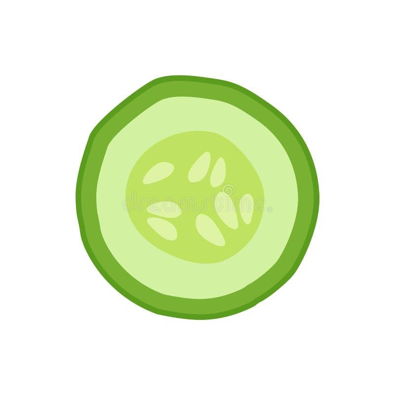 Reife Gurken-runde Scheibe als Bestandteil für Detox vektor abbildung