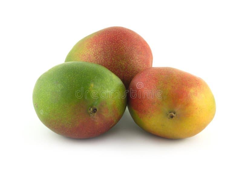 Reife Mango nah oben lokalisiert lizenzfreie stockbilder