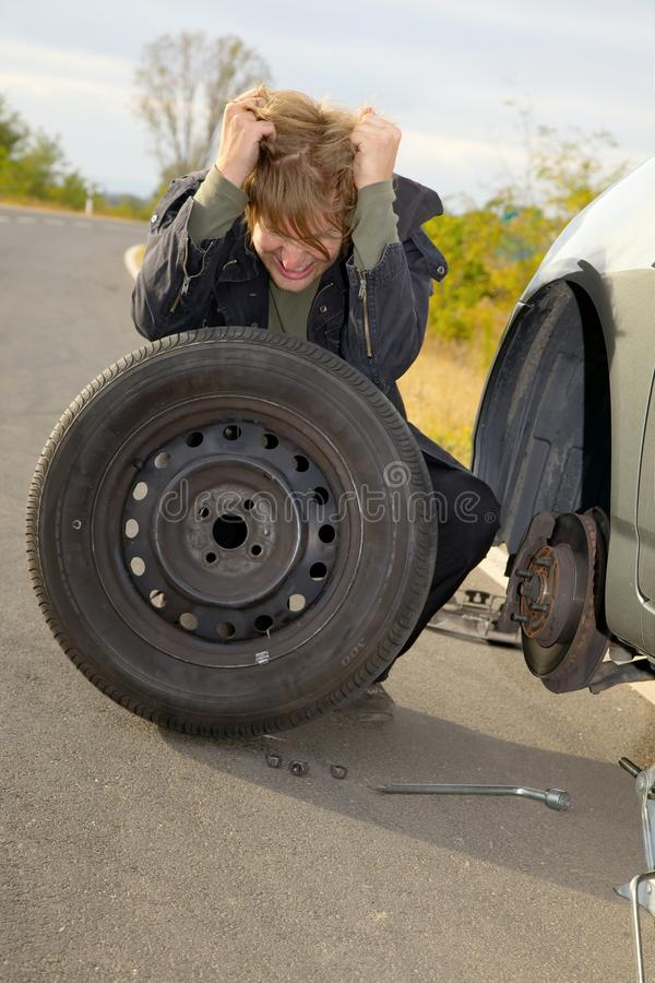 Reifen-Änderung lizenzfreie stockfotos