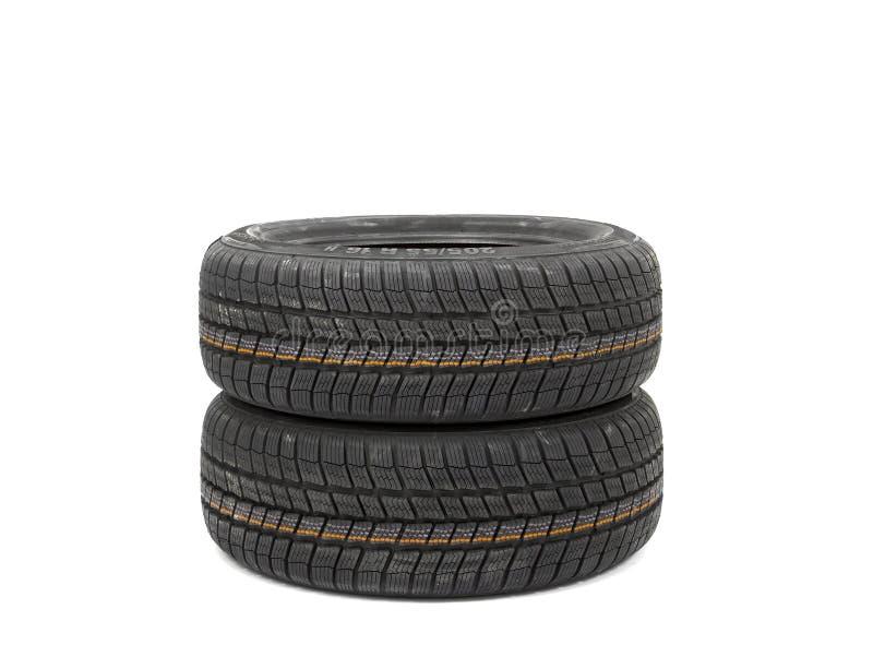 Reifen auf Weiß stockfotografie