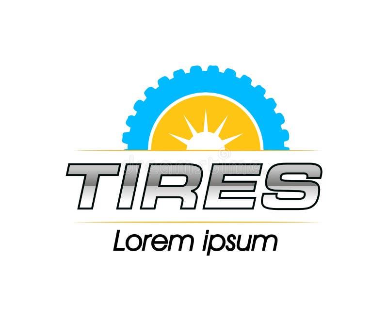 Reifen Logo Design vektor abbildung