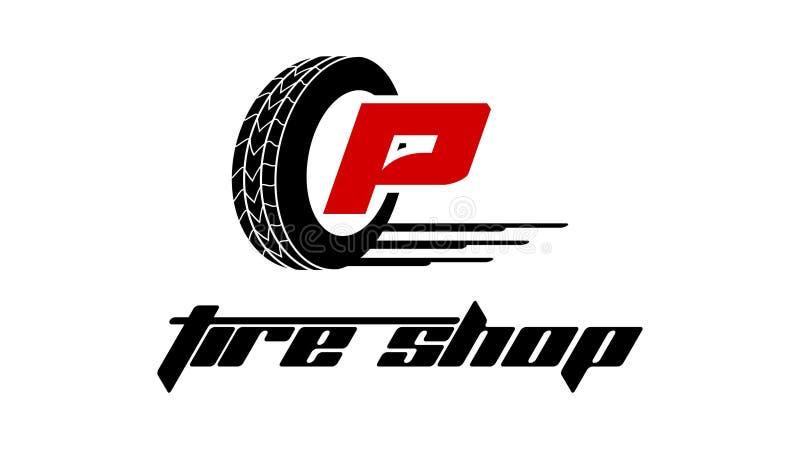 Reifen-Shop Logo Design stock abbildung