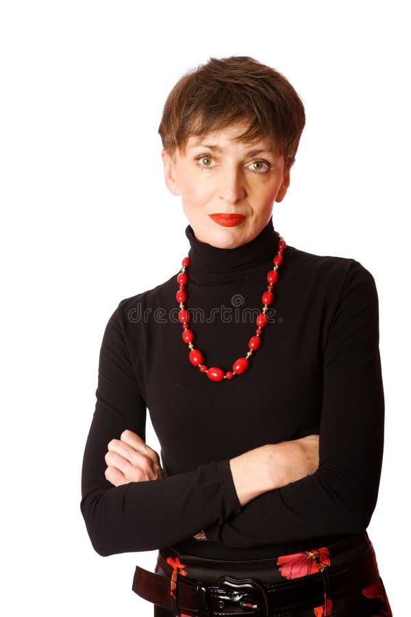 Reifen Sie Frau lizenzfreies stockfoto