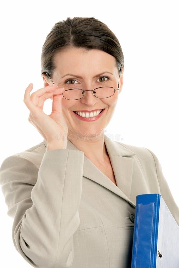 Reifen Sie Geschäftsfrau stockbild