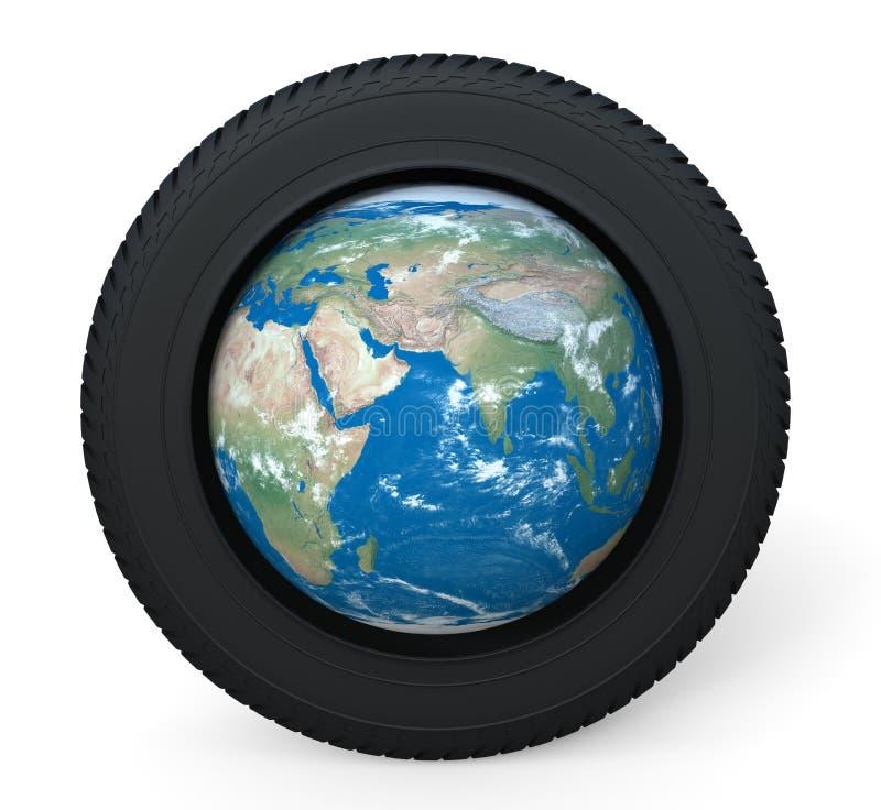 Reifen und Erde lizenzfreie abbildung
