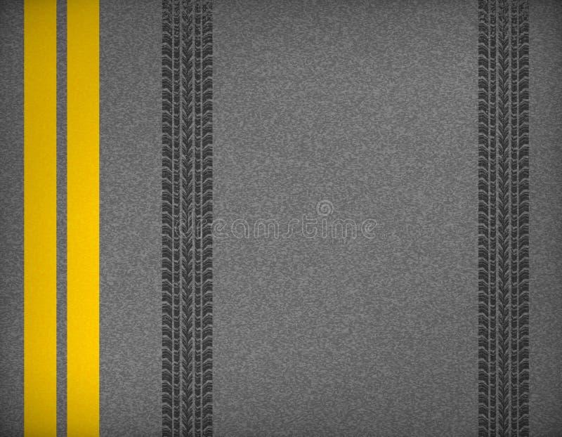 Reifenbahnen auf Straße lizenzfreie abbildung