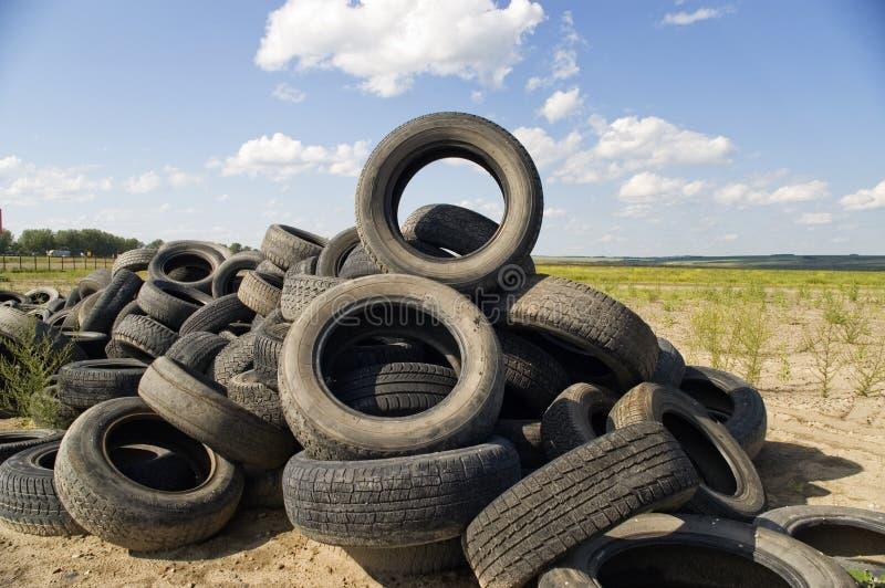 Reifenhaufen. lizenzfreie stockbilder