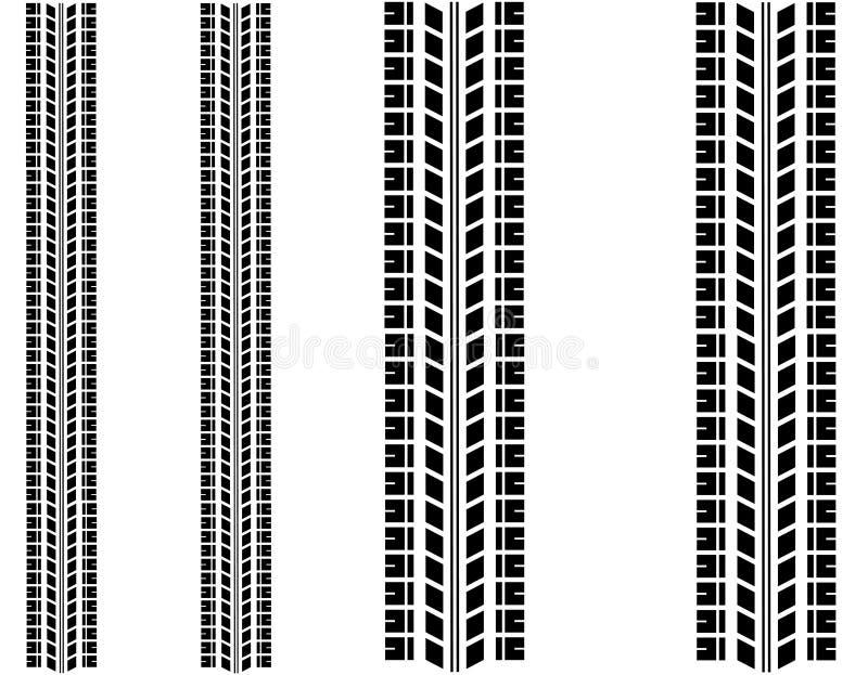 Reifenkennzeichen eingestellt stock abbildung