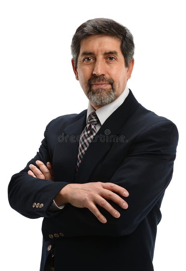 Reifer hispanischer Geschäftsmann stockfotografie