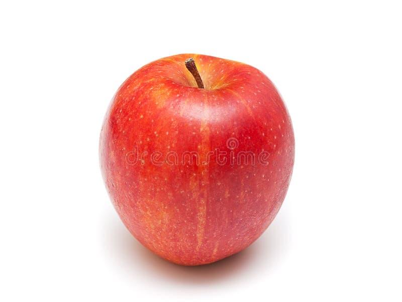 Reifer roter Apfel. Getrennt auf Weiß stockbild