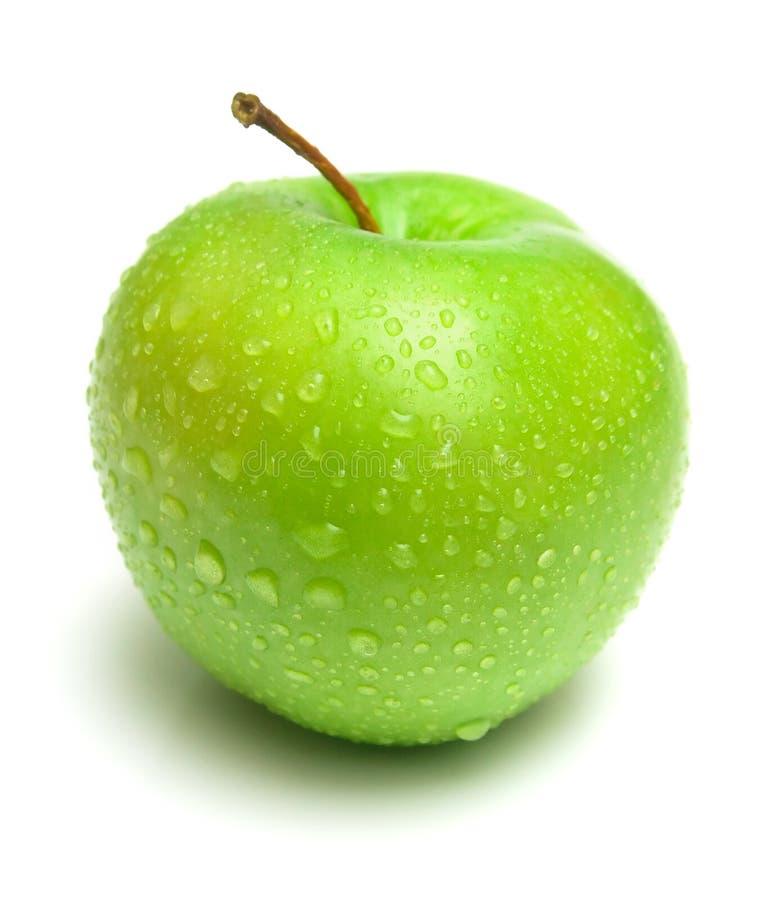 Reifer saftiger Apfel stockbild