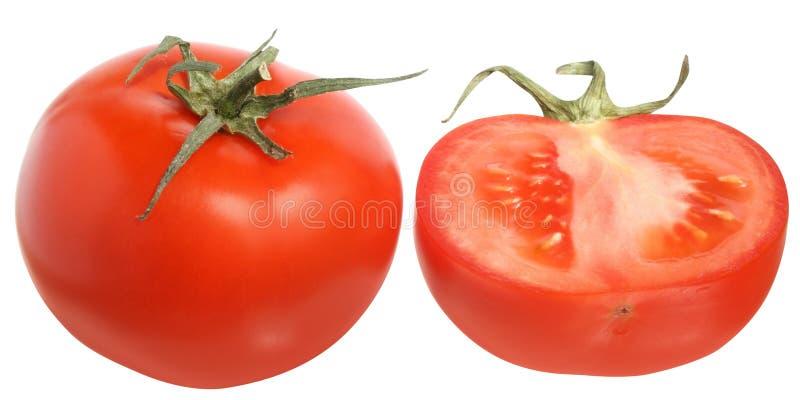 Reifer Tomatenschnitt lizenzfreie stockfotografie