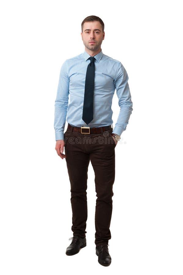 Reifes Geschäftsmann in voller Länge lokalisiert auf Weiß lizenzfreies stockfoto