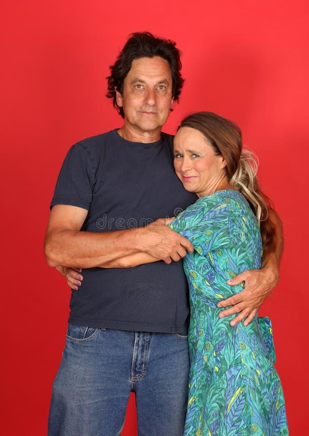 Reifes verheiratetes Paar in der Liebe lizenzfreies stockfoto