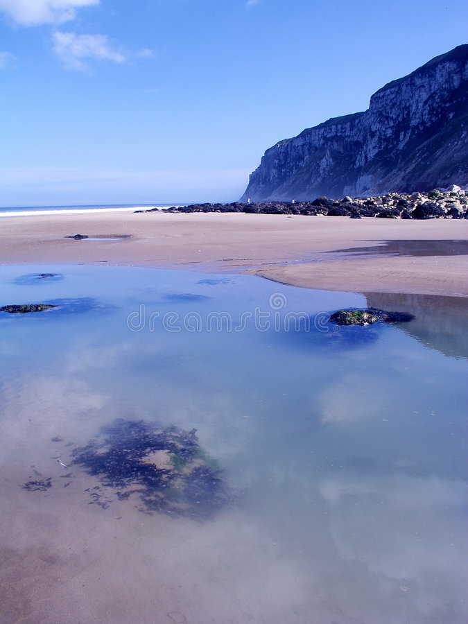 Free Reighton Sands Rock Pools Royalty Free Stock Photography - 243807