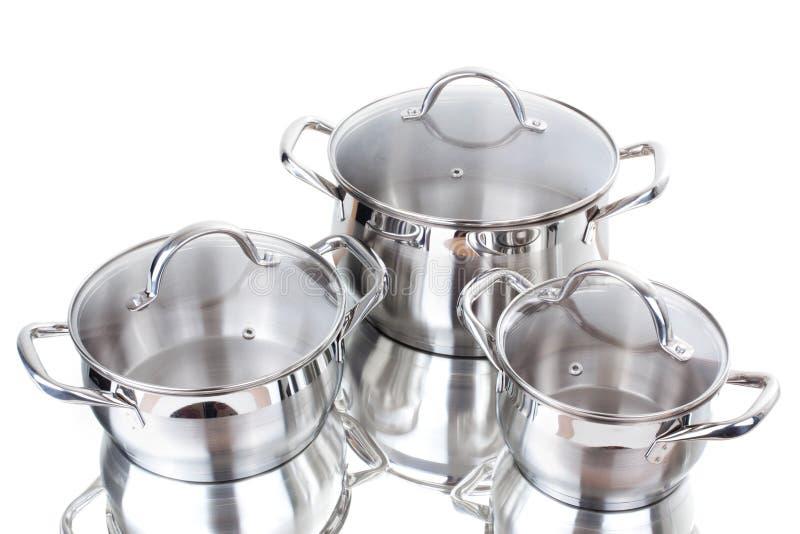 Reihe Bilder der Küchewaren. Wanne stockfotografie