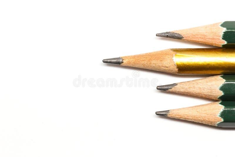 Reihe der Bleistifte lizenzfreies stockfoto
