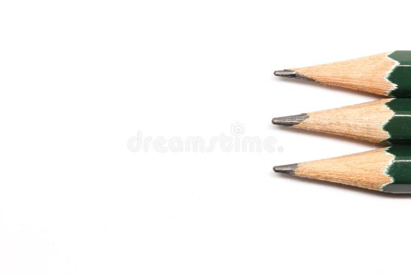 Reihe der Bleistifte lizenzfreies stockbild