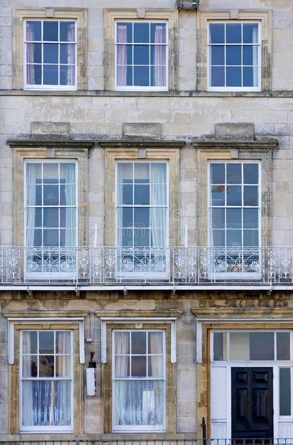 Reihe der Gast-Häuser in England stockbilder