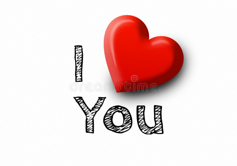 Reihe der Innerer Rotes Herz der glänzenden realistischen Valentinsgrüße 3d stock abbildung