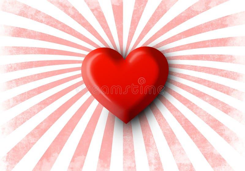 Reihe der Innerer Rotes Herz der glänzenden realistischen Valentinsgrüße 3d vektor abbildung