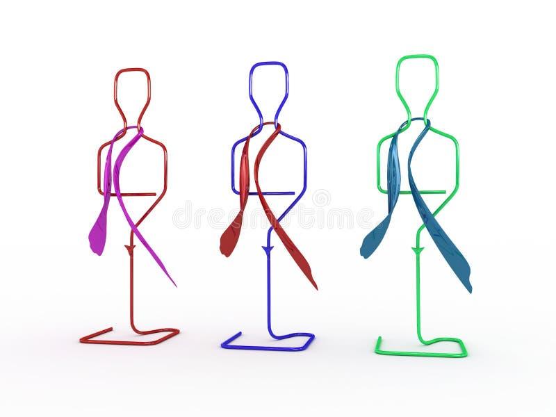 Reihe der Mannequine vektor abbildung