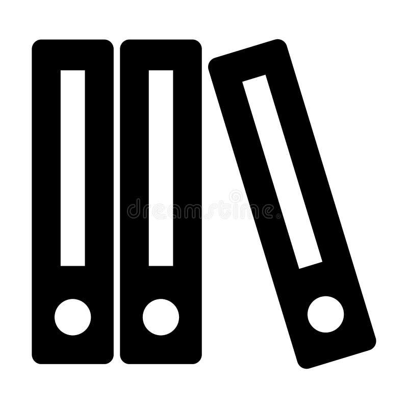 Reihe der Mappenkörperikone Mappenvektorillustration lokalisiert auf Weiß Büroordner Glyph-Artdesign, entworfen für lizenzfreie abbildung