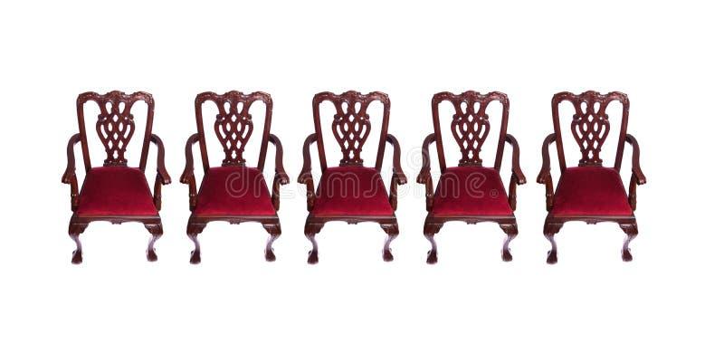 Download Reihe der Stühle stockfoto. Bild von schnitzen, holz - 12200916