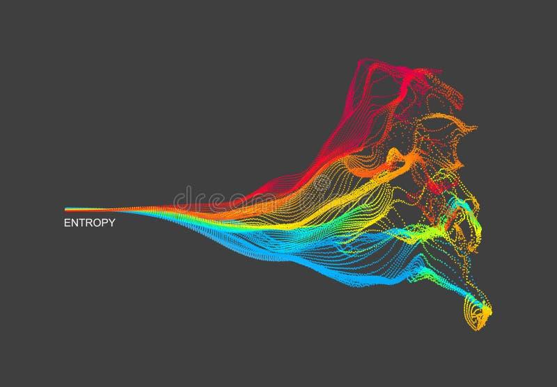 Reihe mit dynamischen ausgestrahlten Partikeln Wasser-Spritzen-Nachahmung entziehen Sie Hintergrund Auch im corel abgehobenen Bet vektor abbildung