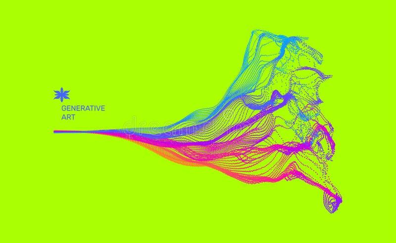 Reihe mit dynamischen ausgestrahlten Partikeln Wasser-Spritzen-Nachahmung entziehen Sie Hintergrund Auch im corel abgehobenen Bet lizenzfreie abbildung