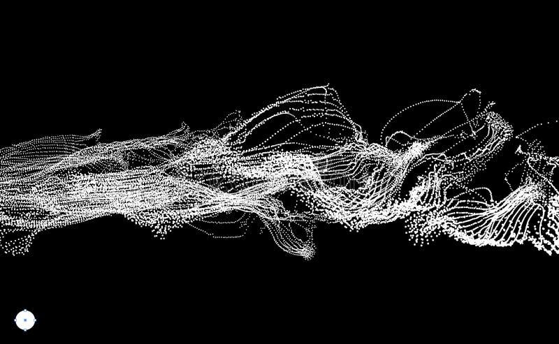 Reihe mit dynamischen ausgestrahlten Partikeln Wasser-Spritzen-Nachahmung entziehen Sie Hintergrund Auch im corel abgehobenen Bet stock abbildung