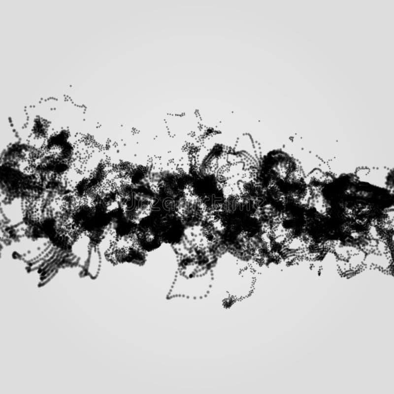 Reihe mit dynamischen Partikeln entziehen Sie Hintergrund stock abbildung
