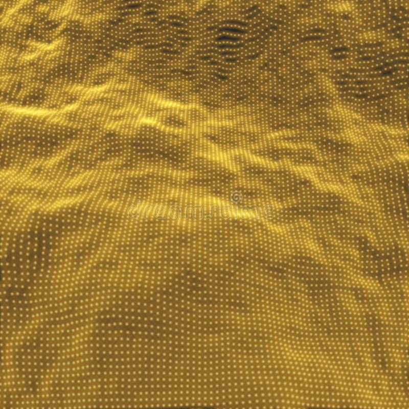 Reihe mit dynamischen Partikeln futuristische Art der Technologie 3d entziehen Sie Hintergrund Beschaffenheit Gl?hende Punkte Auc lizenzfreie abbildung