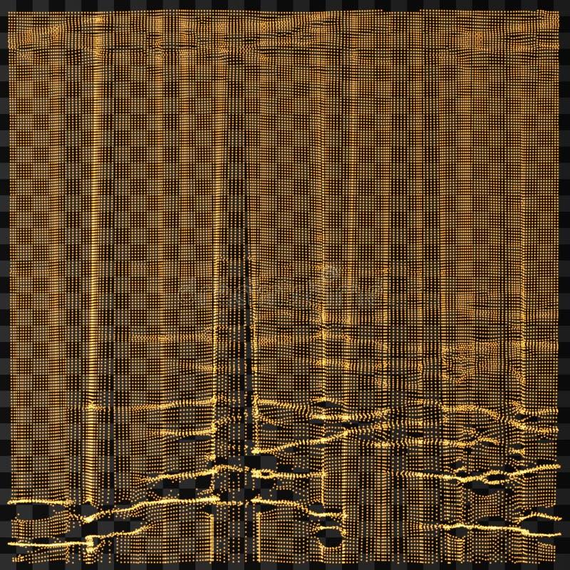 Reihe mit dynamischen Partikeln futuristische Art der Technologie 3d entziehen Sie Hintergrund Gl?hende Punkte Auch im corel abge vektor abbildung