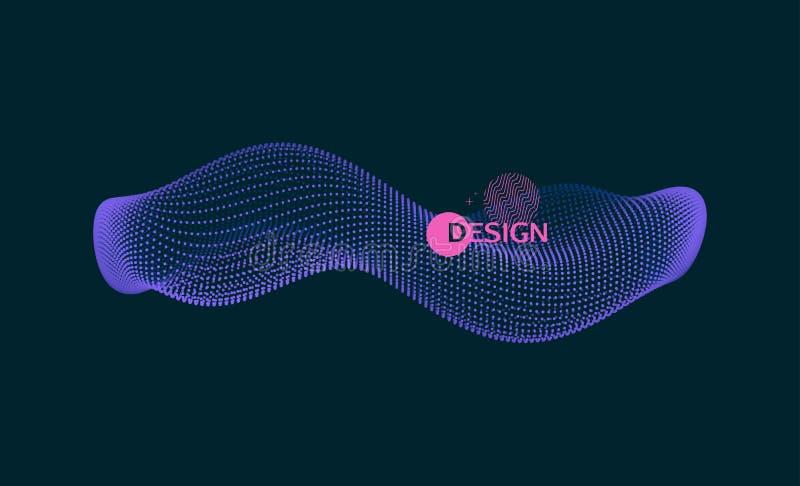 Reihe mit dynamischen Partikeln molekularer Gegenstand 3D f?r Medizin, Wissenschaft, Technologie, Chemie und Biologie Auch im cor vektor abbildung