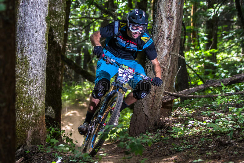 Reihe Oregons Enduro - Dylan Wolsky stockfotos