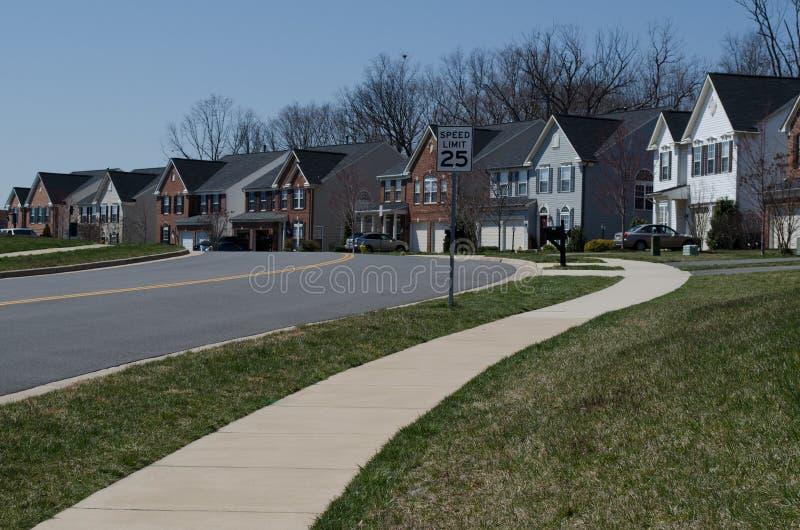 Reihe von Häusern stockbilder