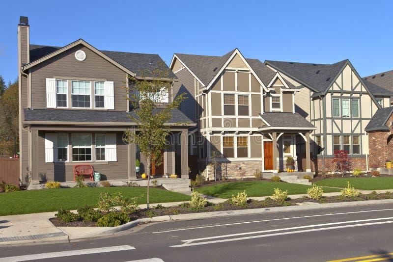 Awesome Download Reihe Von Neuen Häusern In Willsonville Oregon Stockfoto   Bild  Von Fenster, Reihen:
