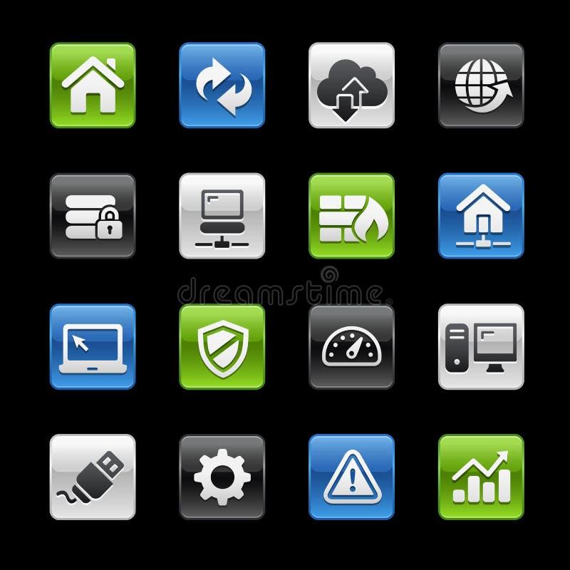Reihe Web-Entwickler-Icons //GelBox stock abbildung