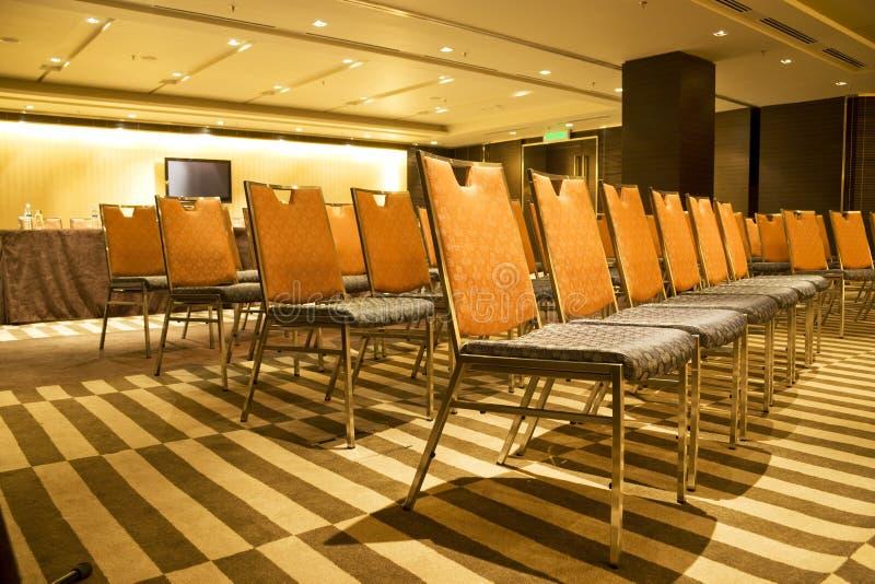 Reihen der Stühle stockfotografie