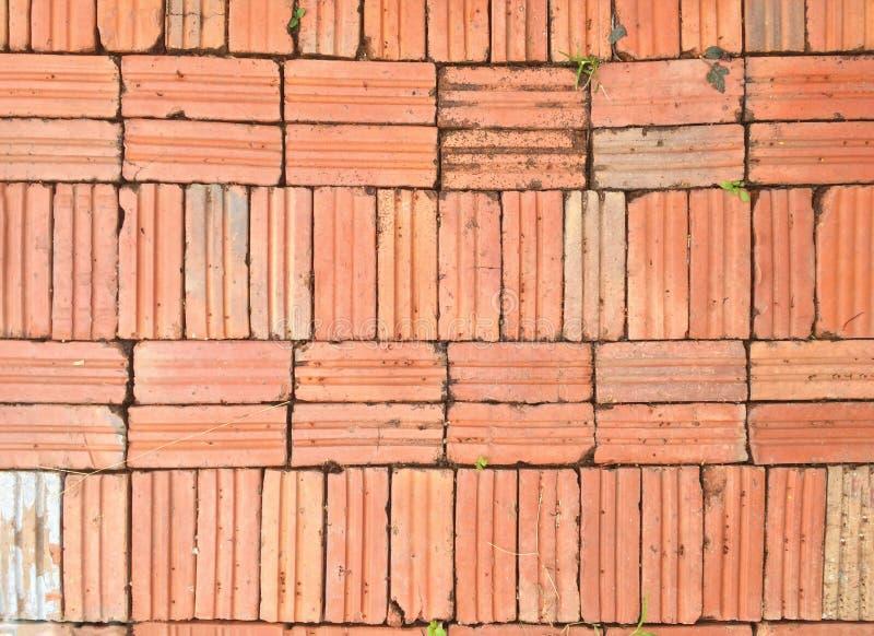 Reihen des Backsteinmauerhintergrundes stockbild
